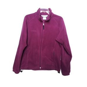 Columbia woman's purple full zip fleece